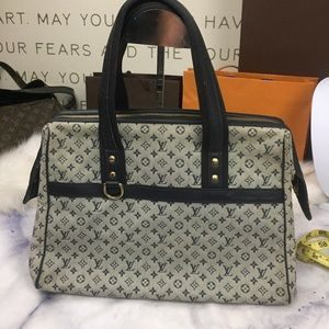 LOUIS VUITTON mini lin navy Josephine